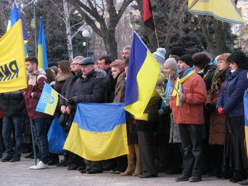 В Краматорске прошел митинг в память Героев Майдана