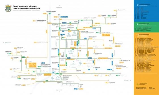 Схема руху міського транспорту Краматорська