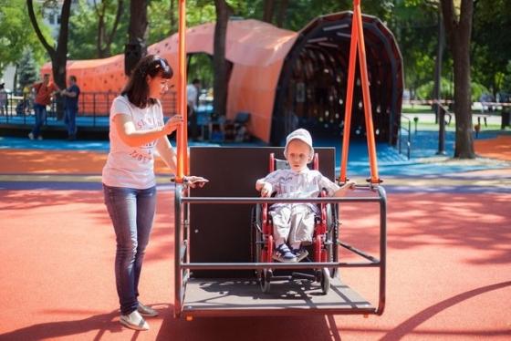 Марина Порошенко открыла в Днепре первый в Украине инклюзивный парк, построенный облгосадминистрацией