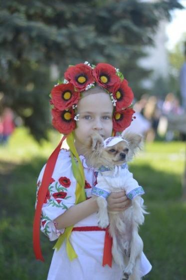Сегодня в Краматорске прошел флеш-моб в честь Дня вишиванки