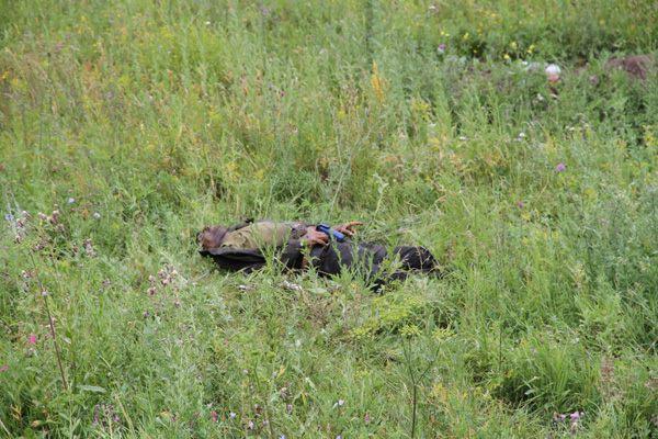 Как террористы бросали технику и раненых (фото)